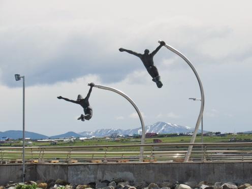 Airborne sculpture, Puerto Natales