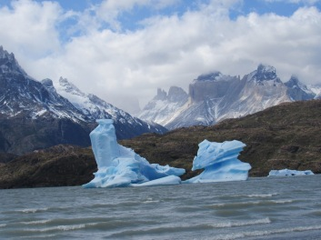 Blue ice, Torres del Paine