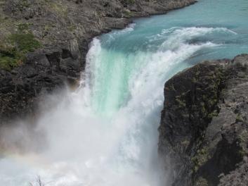 Aqua waterfall