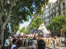 Protest march Buenos Aires