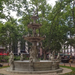 Fountain in Constitucion plaza