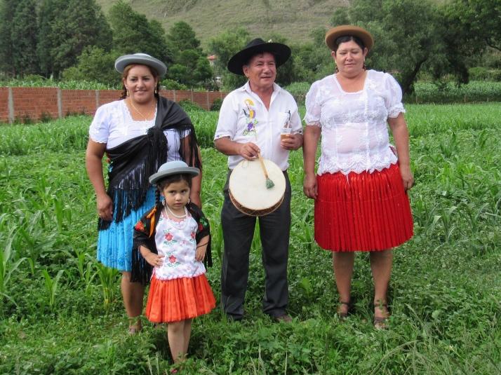 Family in folk dress