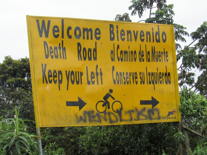 Death Road sign