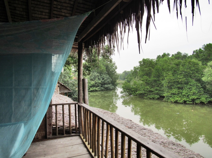 View of the river from bungalow verandah