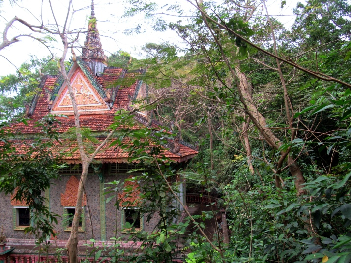 The temple at the cave near Kampot