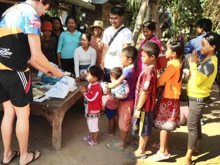 Children receiving books