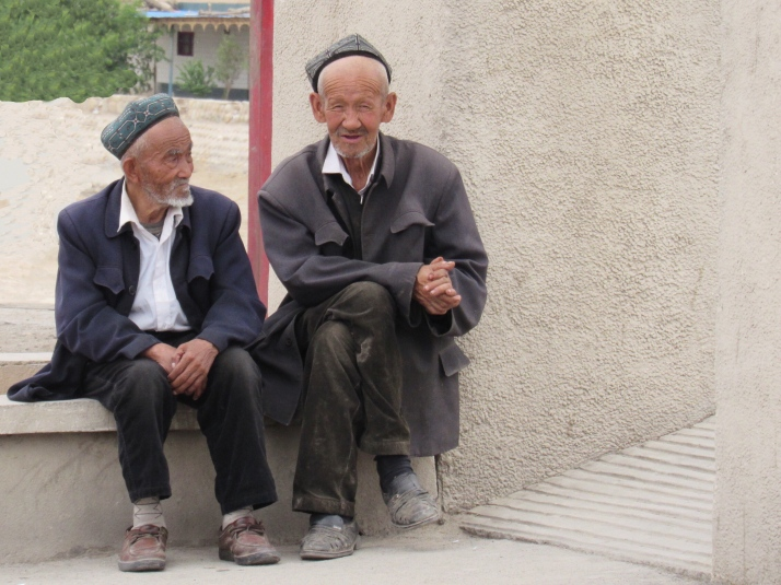 Uyghur men in Kuqa