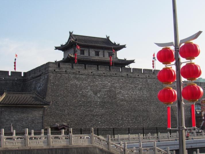 Huge city walls in Xi'an