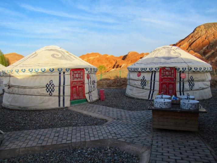 Kaoshan Tent near Zhangye