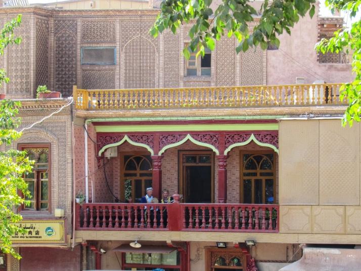 Tea house balcony in Kashgar