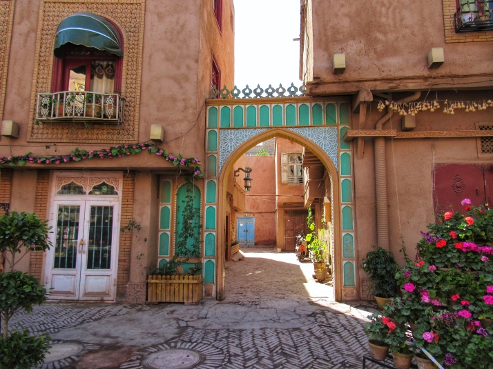 Arches and alleys in Kashgar