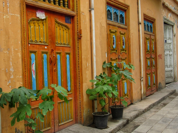 Colourful doors in Kuqa