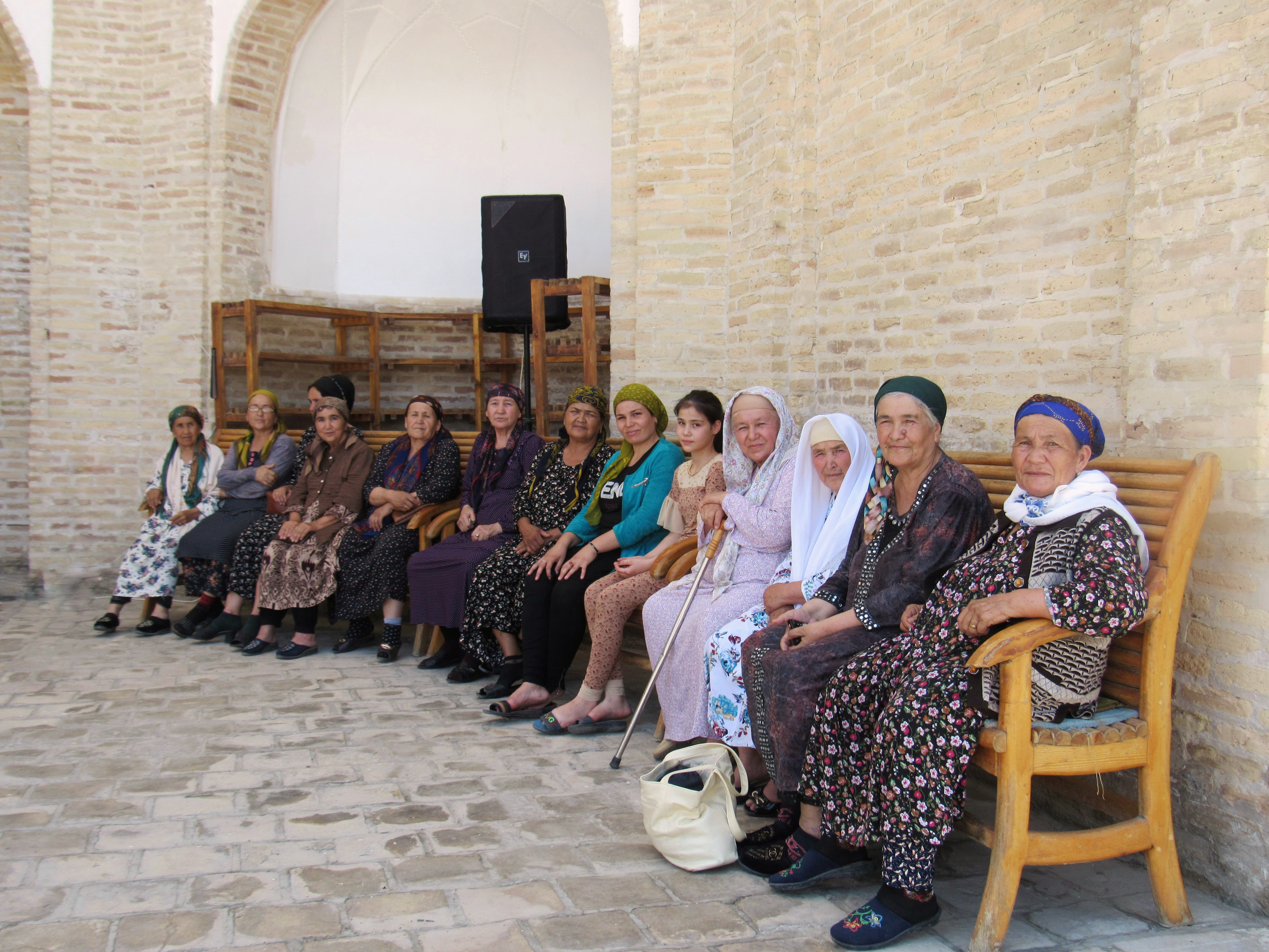 Pilgrims at the Memorial complex of Naqshbandi the revered 14th century Sufi teacher