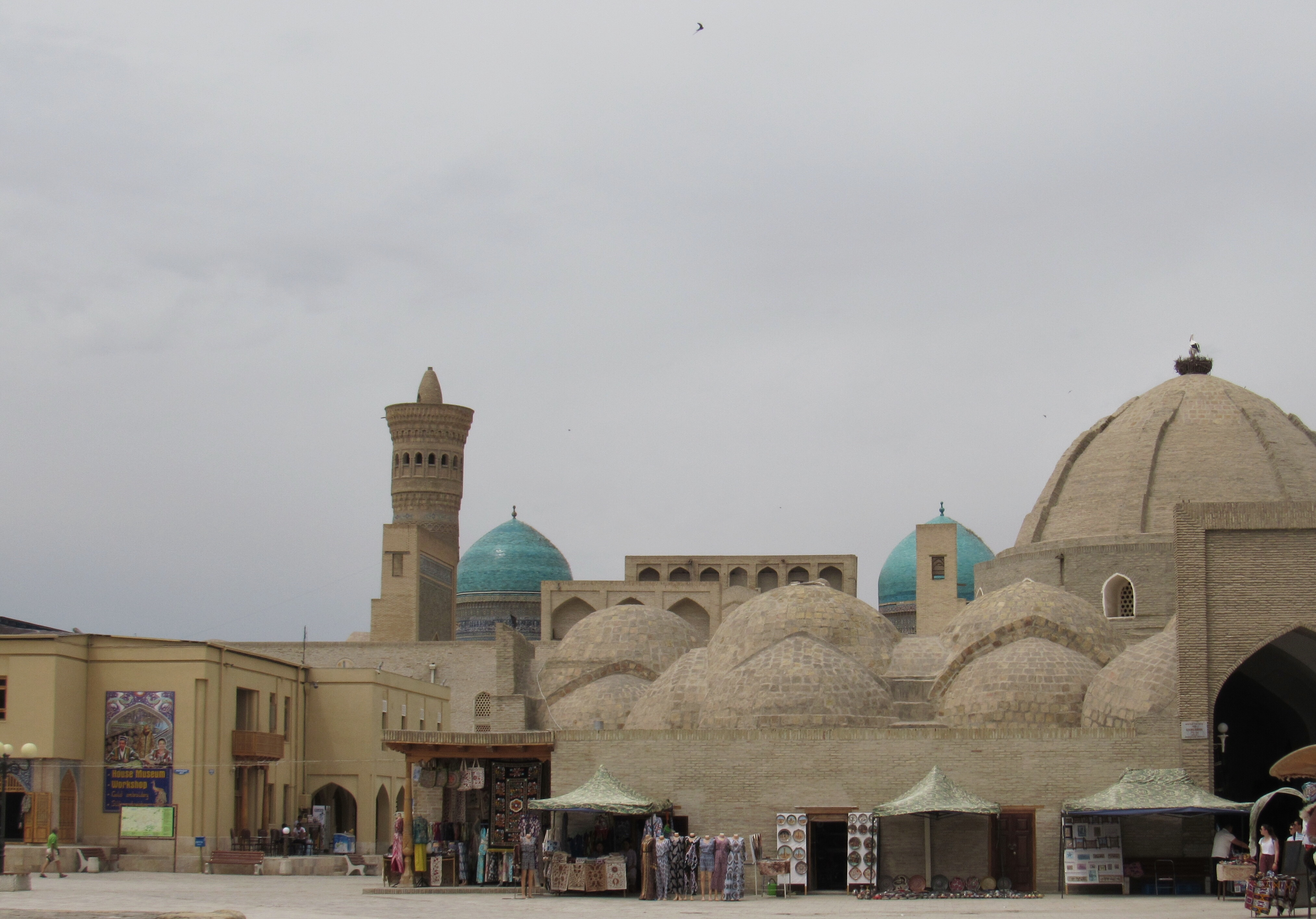 Domed bazaar, Kalyon minaret and mosque