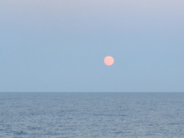 Full moon on the Black Sea