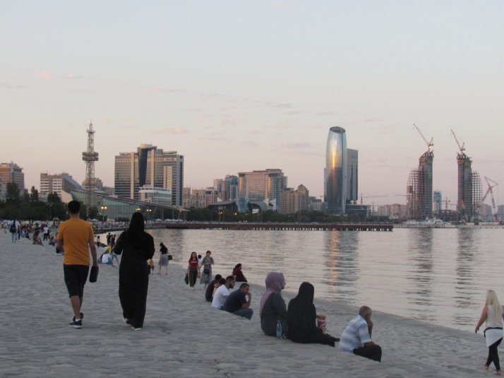 Promenade on the Caspian Sea shore